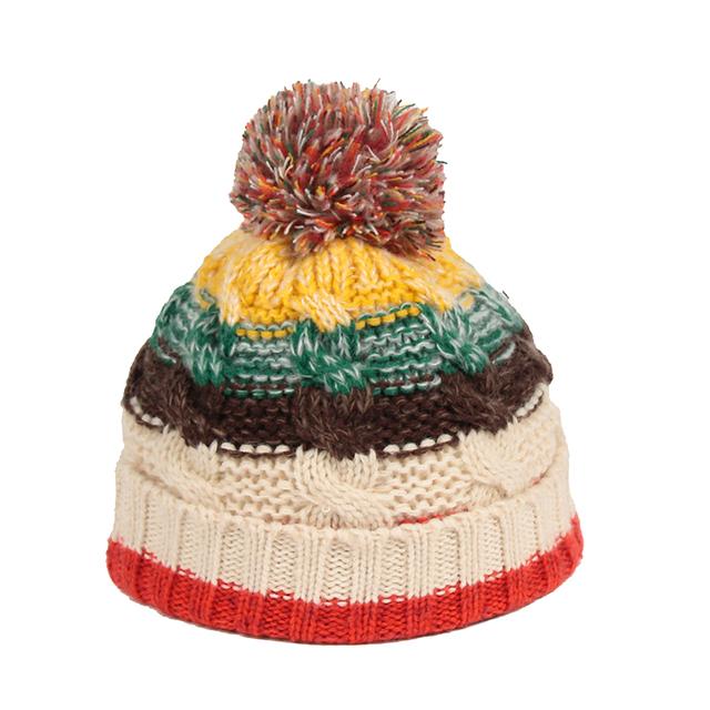 306b6ec1124 New Style Multicolor knit pom pom acrylic custom knit skull beanie hat