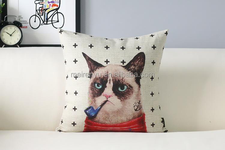 2015 Wholesale Cartoon Cats Papasan Chair Cushion