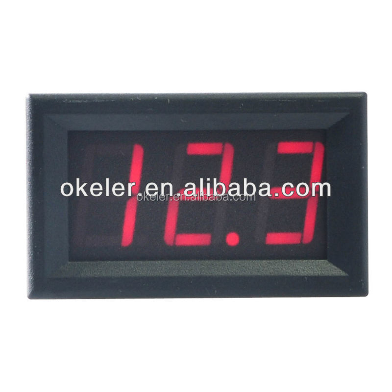4-30V Mini LED Display Digital Voltmeter for Auto Car Truck Voltage Meter