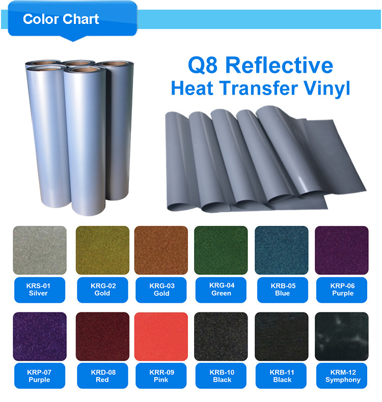 Reflective film heat transfer vinyl for clothing
