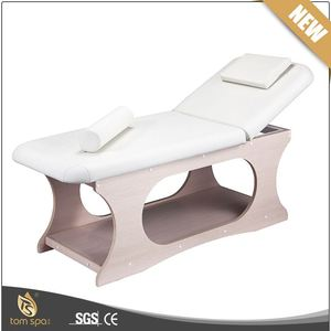 TS-2363 TOM SPA quality high cost effective spa bed wooden thai massage bed for beauty salon