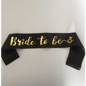 2018 new bride to be sash for birthday party