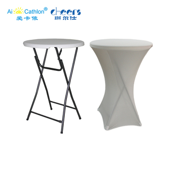 Outdoor Wedding High Top Plastic Folding Cocktail Table Round Party Folding Tables