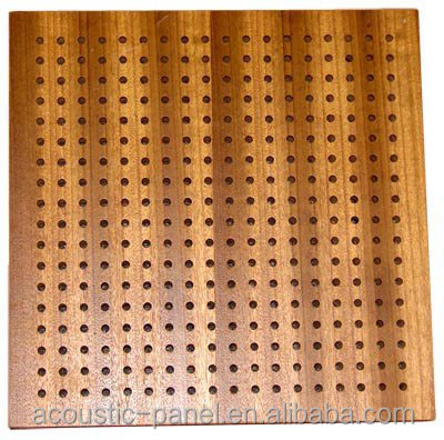 Chapa de madera perforada ac stica panel ceilling tablero for Panel perforado madera