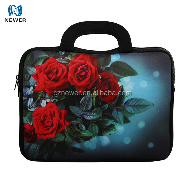 Fashional shock-resistant custom printed pc bag neoprene laptop cover bag