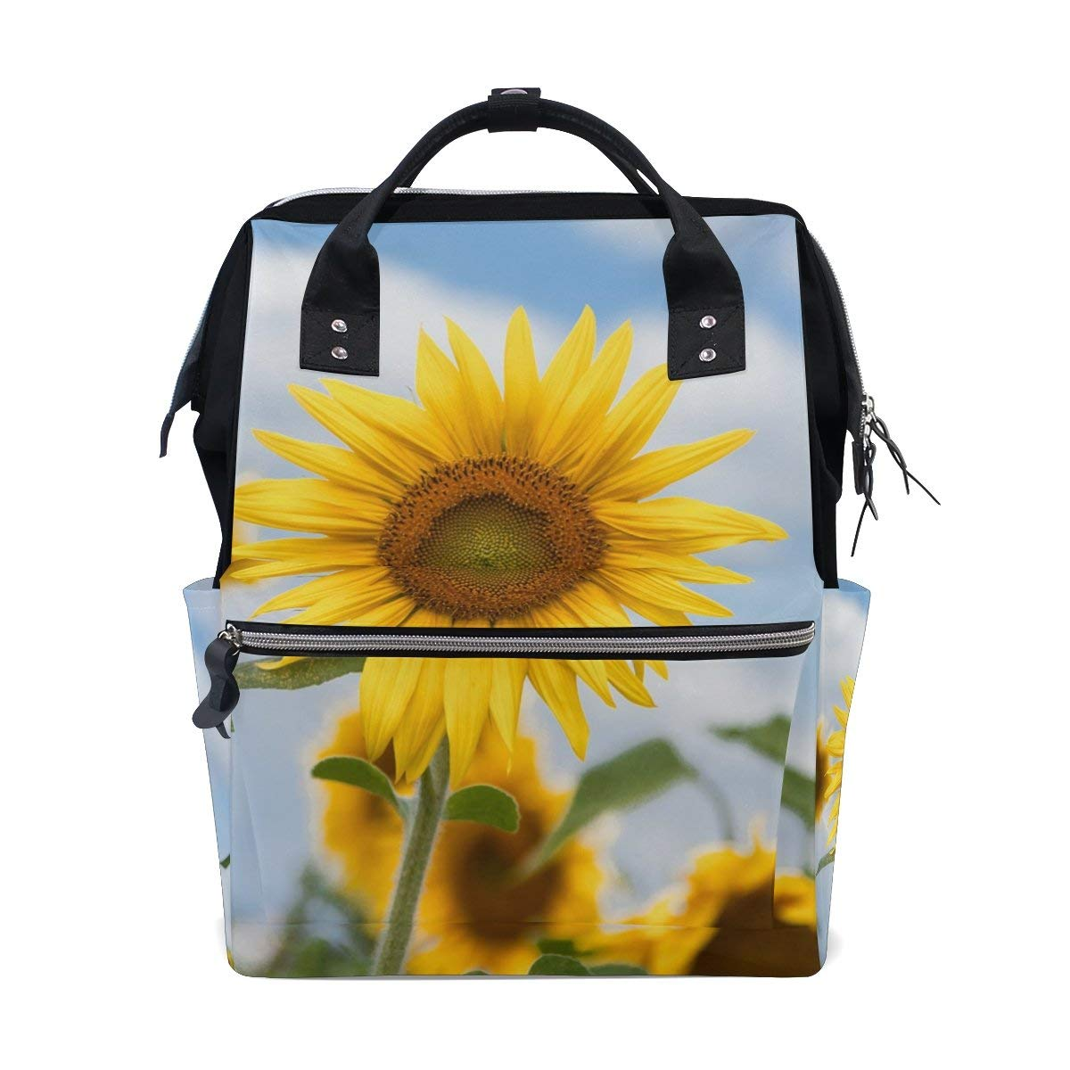 Diaper Bags Backpack Purse Mummy Backpack Fashion Mummy Maternity Nappy Bag Cool Cute Travel Backpack Laptop Backpack with Sunflowers Daypack for Women Girls Kids