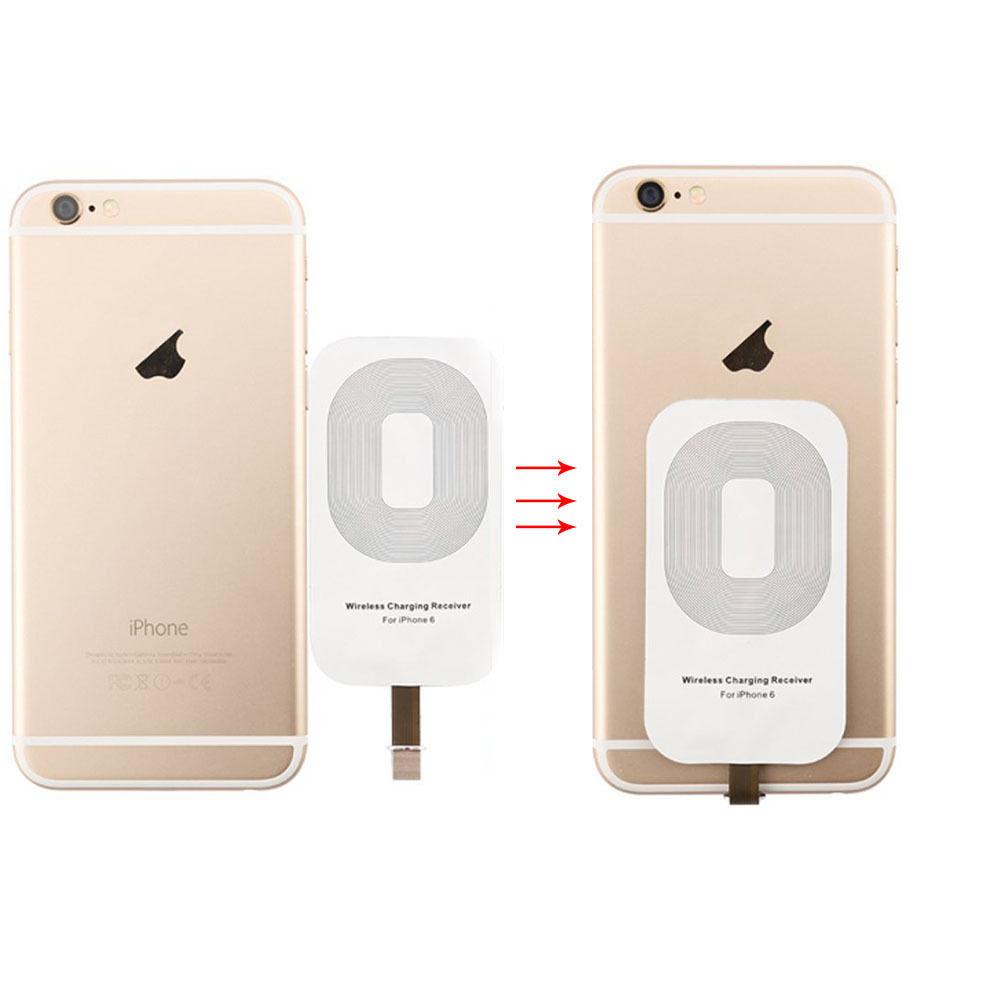 iphone 5s wireless charging qi wireless charger receiver for iphone 6 6s 5 5s 5c buy 6715