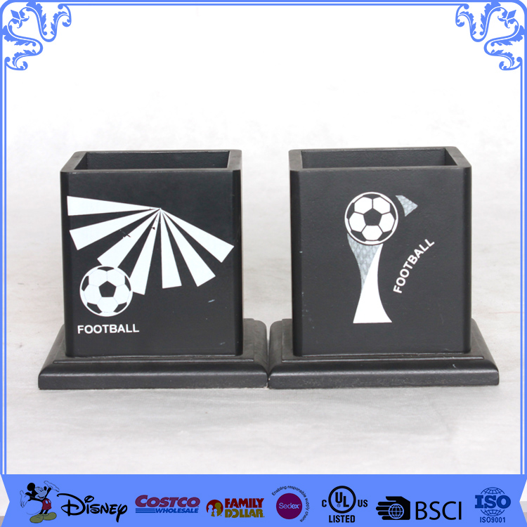 Competitive Black Pen Holder Bookends With Custom Logo