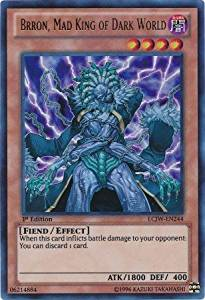 Yu-Gi-Oh! - Brron, Mad King of Dark World (LCJW-EN244) - Legendary Collection 4: Joey's World - 1st Edition - Ultra Rare