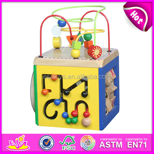 Wooden Wire Bead Toy | 2015 Educational Wooden Circle Beads Toys For Kids Wooden Toy Wire