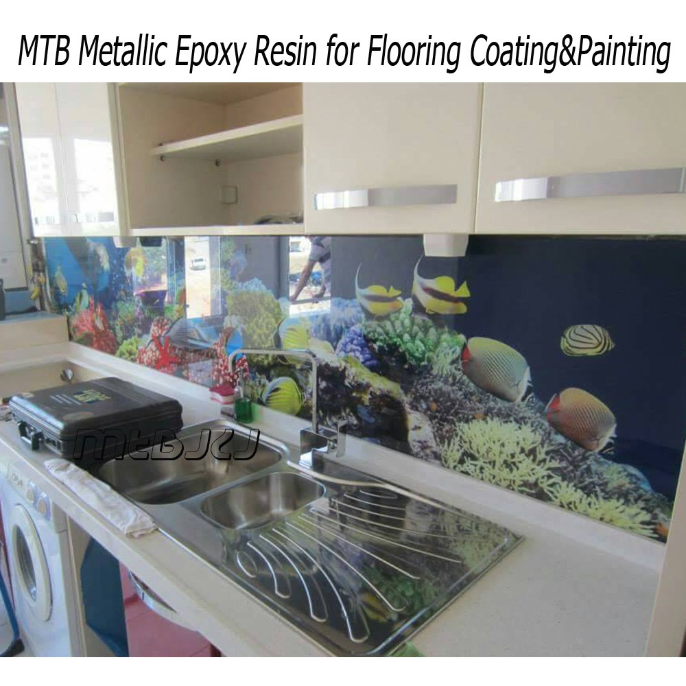 Clear Epoxy Resin Coating For 3D Flooring Floor Art