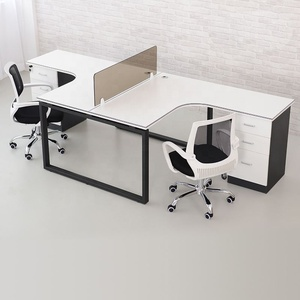 Office standing desk office table and chair set furniture