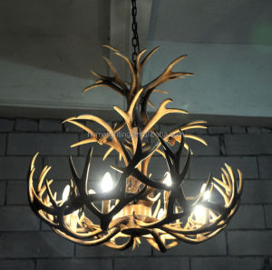 A1017C-8L Resin Deer antler chandelier 8 lights