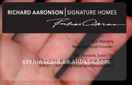Black Color Plastic Clear Business Card
