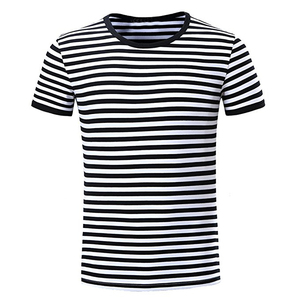 hot sale custom wholesale blank red and black striped t shirt mens