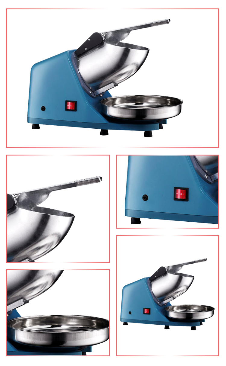 Stainless Steel Electric 220v 300w Ice Shaver Crusher Snow