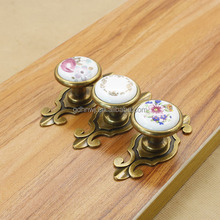 new product china ceramic antique brass drawer handles