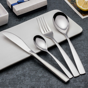 Spoons Forks Knives Stainless steel Cutlery set 4pcs for Hotels