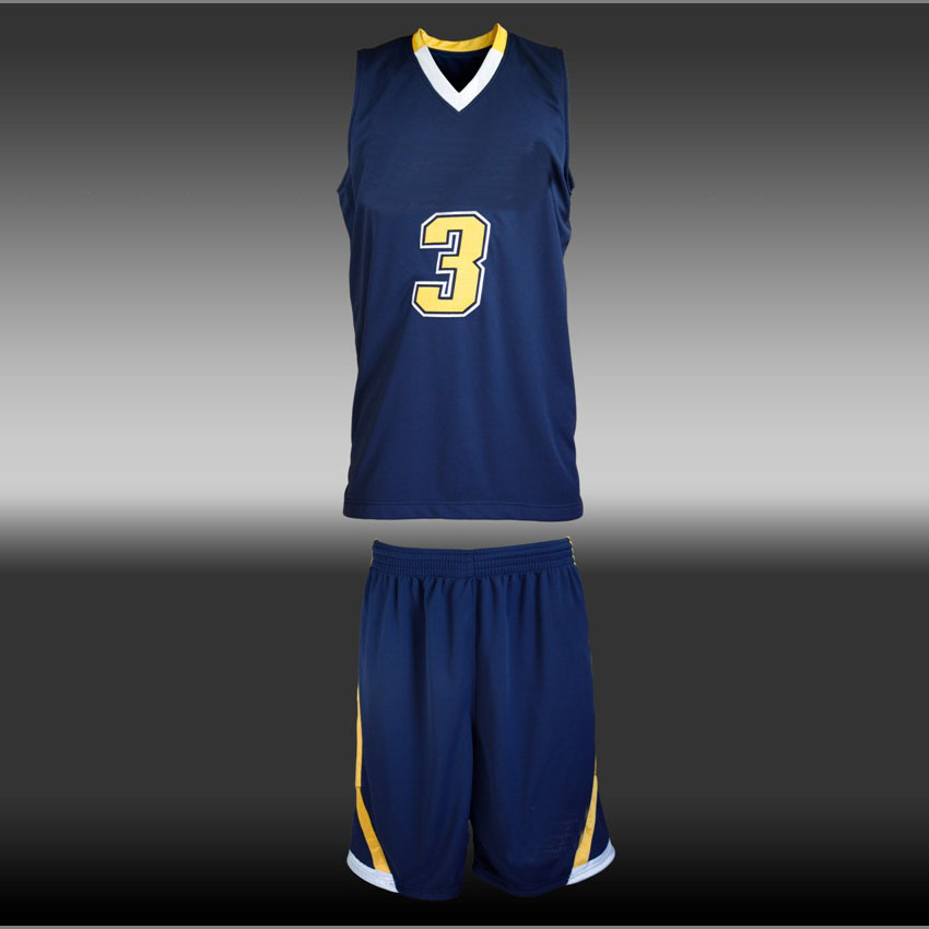 Blaue Basketballuniformen des Teams billig