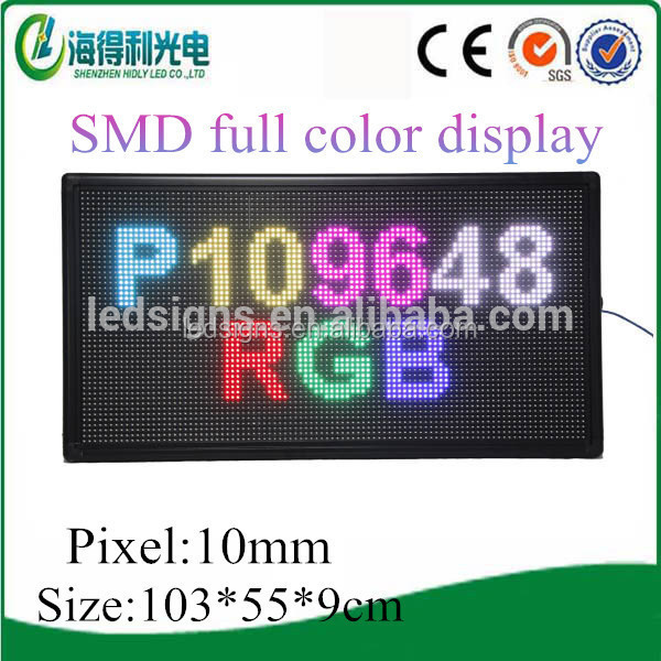 semi-outdoor/outdoor LED train station display sign with double colors