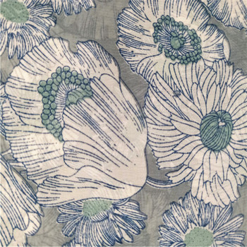 Wholesale different types of chiffon fabric printed flower