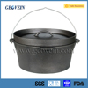 High quality outdoor camping cast iron pre-seasoned three legs dutch oven