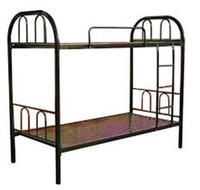 metal bunk bed are used in school dormitory with mattress/ladder