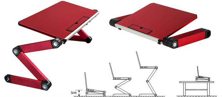 mini portable folding sit stand desk