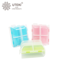 Wholesale colorful portable plastic pill box with lock