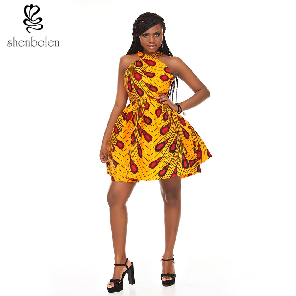 AM-026 African hot fashion <strong>dress</strong> sexy hanging neck type back crossed hollow <strong>dress</strong>