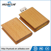 Christmas Gift 2.0 4gb 8gb 16gb Book Type Wooden USB Flash Drives for Christmas Day