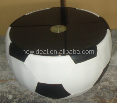 Football Shape Coffee Table Low Hight Glass Coffe Table