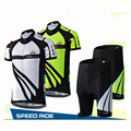 Summer New Speed Ride Men s Cycling Jersey Set Short Sleeves Gel Pad Quick dry Breathable
