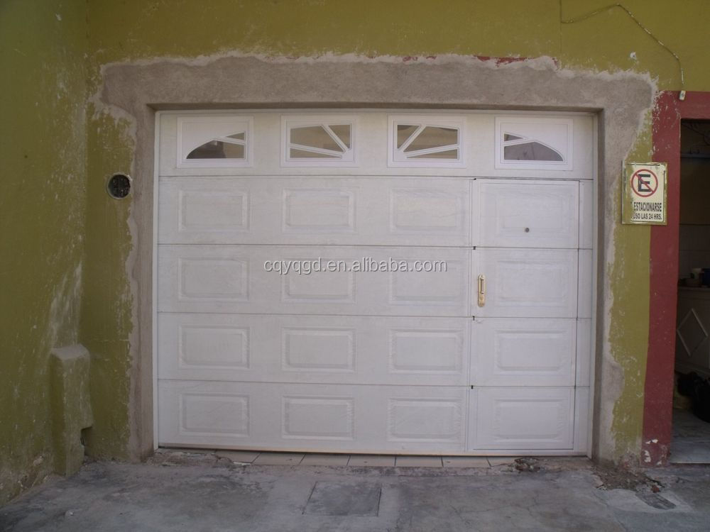 Ce certificated automatic garage doors with pedestrian