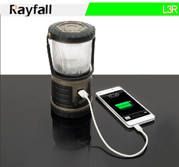 Plastic Lamp Body Material and LED Light Source rechargeable LANTERN torch for camping