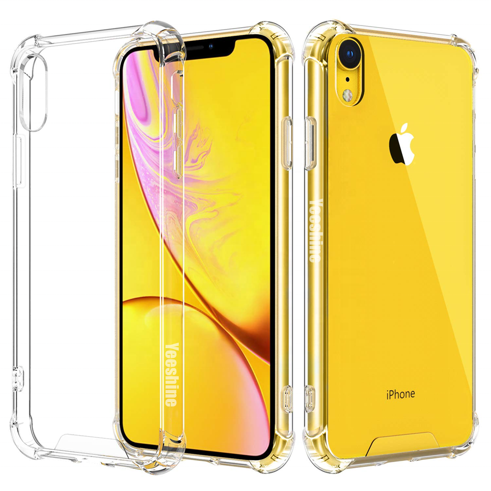 Flexible Soft TPU Phone <strong>Case</strong> for iPhone XR Clear TPU Mobile <strong>Case</strong> With Reinforced Corners