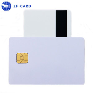 Bank card size ATMEL 24c02 blank ic chip card with magnetic band