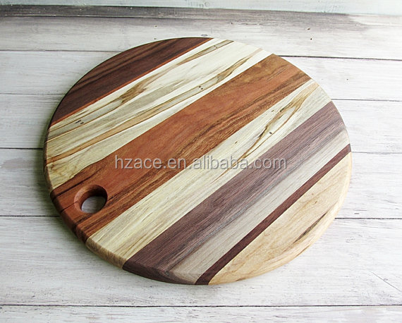 multiple wooden cutting board round shape joint wood chopping, Kitchen design