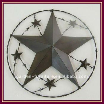 "8279971a5c large metal barn texas star 24.75"" Filigree Rope wall hanging  decoration Amish Style"