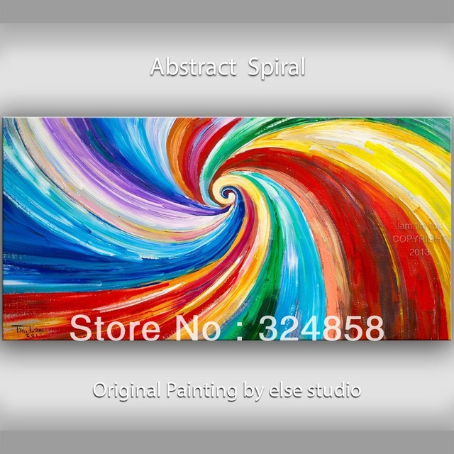abstrakte malerei lgem lde spirale farbe wohnkultur wand. Black Bedroom Furniture Sets. Home Design Ideas
