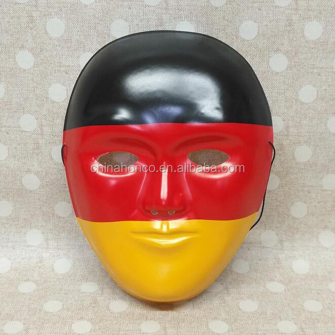 WM 2018 germany mask football party flag PE maskin german color