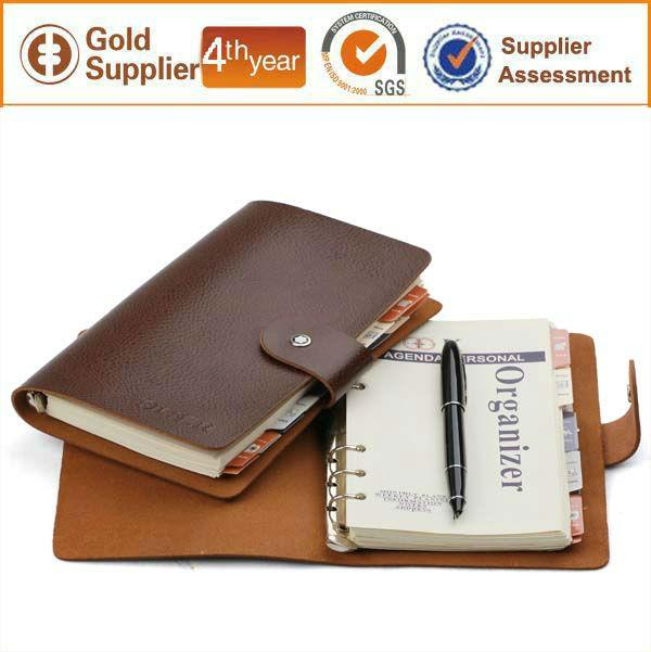 2015 Personalizado Fichário A5 Notebook Organizador