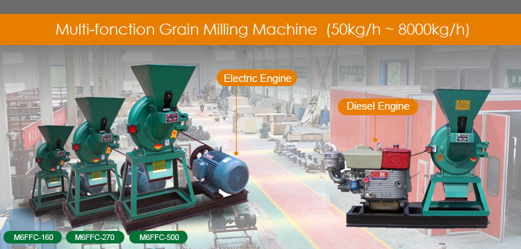 M6FFC360 Small scale grain mill electric wheat rice maize corn grinding grinder miller home use mini wheat flour milling machine