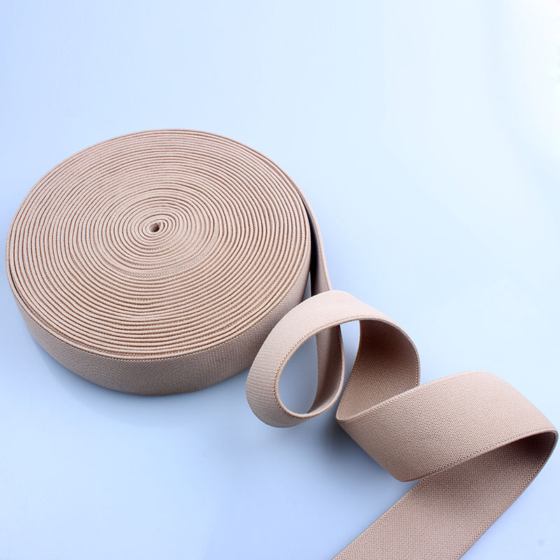 china manufacture wholesale fold over elastic 1 inch webbing with nylon material