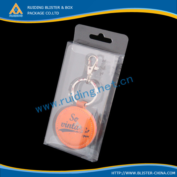 Customized plastic clear adorable key chains package box packaging