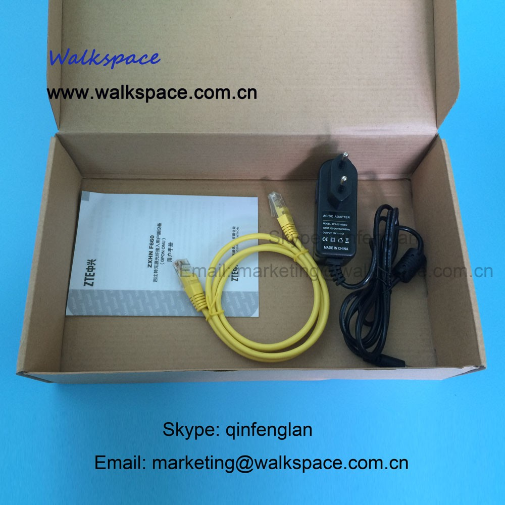 ZTE GPON ONU, ZXHN F660 With Four Lan Ports and Two Phone Ports Optical network Terminal