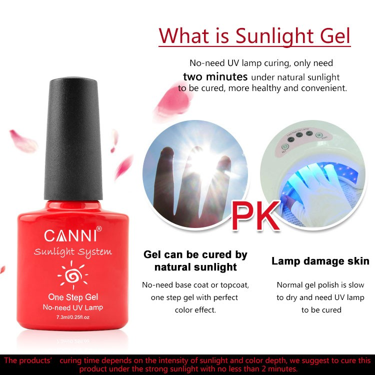 51263a CANNI Sunlight one step gel nail polish uv led soak off fast ...