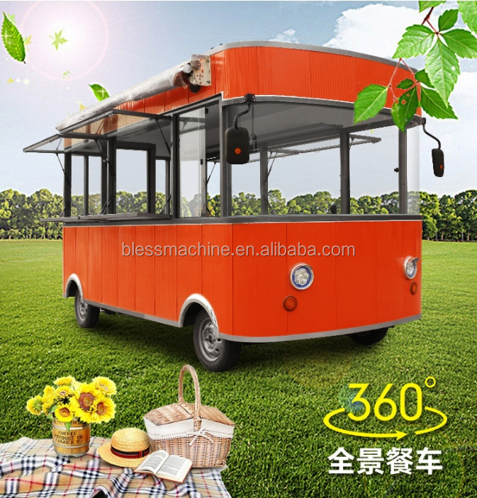 2018 professional manufacturer cost effective Electric mobile food cart/kiosk/truck/ ice cream cart with Alibaba trade assurance