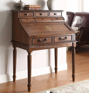 Classic American style living room side cabinet, foldable writing desk