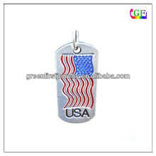 American Flag Pet Tags Charm